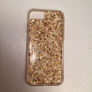 Accessories - Clear/gold confetti iPhone case